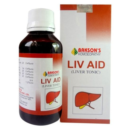 Homeopathy Liver Tonic, Bakson Liv Aid Liver Tonic for dyspepsia, indigestion, nausea, vomiting and clay colored stools, improves appetite, sluggish liver