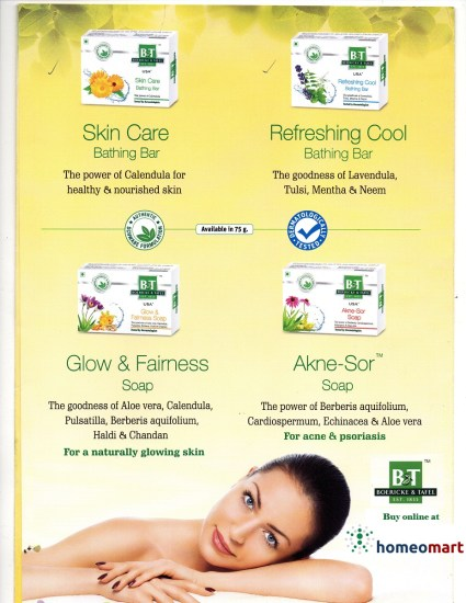Homeopathy Soaps - Acne, Fairness, Cool