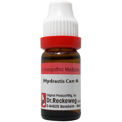 Dr Reckeweg Dilution Hydrastis Canadensis 6C, 30C, 200C, 1M, 10M, 50M, CM. 11ml