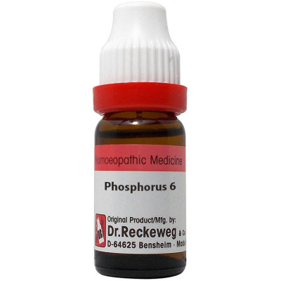Dr Reckeweg Dilution Phosphorus 6C, 30C, 200C, 1M, 10M, 50M, CM. 11ml
