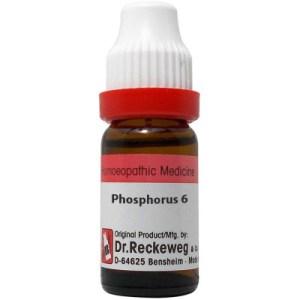 Dr Reckeweg Dilution Phosphorus 6C, 30C, 200C, 1M, 10M, 50M, CM. 11ml