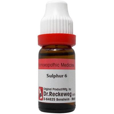 Dr Reckeweg Dilution Sulphur 3X, 6C, 30C, 200C, 1M, 10M, 50M, CM. 11ml