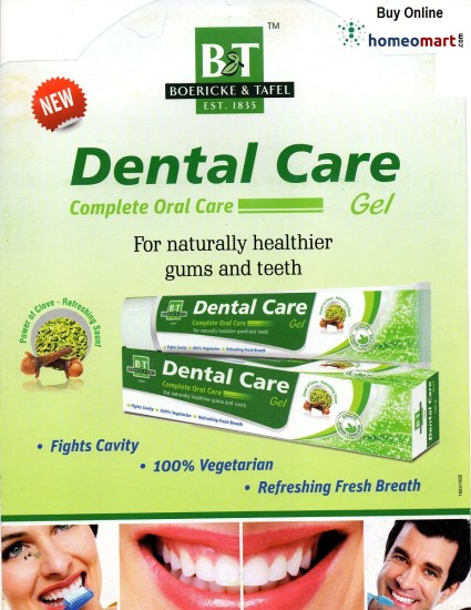 Homeopathic Toothpaste for healthier gums, teeth