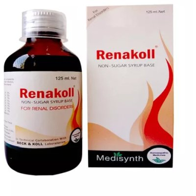 Medisynth Renakoll Syrup for Renal Disorders, Urinary Complaints, dysuria, calculi, recurrent urinary tract infection
