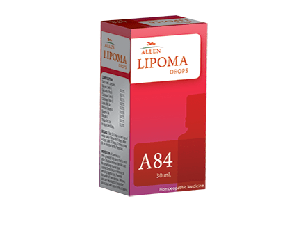 A84 homeopathy Lipoma Drops, removal benign fat tumor naturally