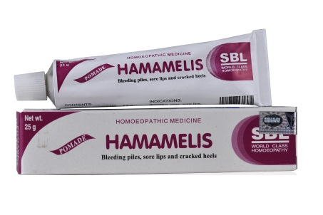 Sbl Pomade Hamamelis (Witch hazel) Ointment for Bleeding piles, Sore lips