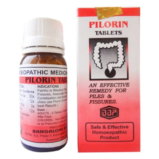 BBP Pilorin Tablets - Homeopathic medicine for Piles and Fissures