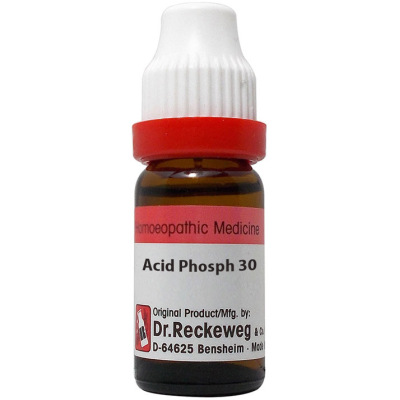 Dr Reckeweg Dilution Acid Phosphoric 3X, 6C, 30C, 200C, 1M, 10M, 50M, CM. 11ml