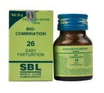 SBL Biocombination 26 (BC26) Tablets for Easy Parturition, easy delivery