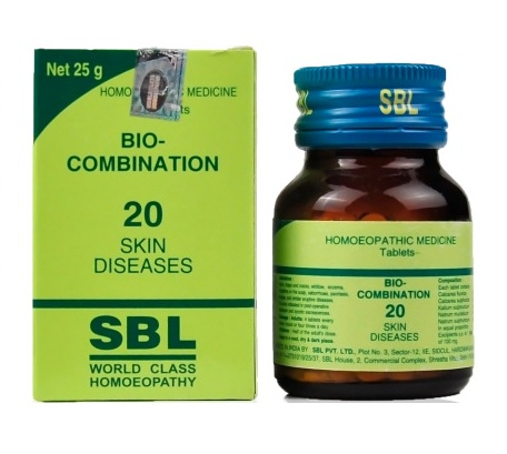 SBL Biocombination 20 (BC20) Tablets for Skin Diseases, dermatitis, allergies