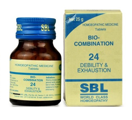 SBL Biocombination 24 (BC24) Tablets for Debility, Exhaustion