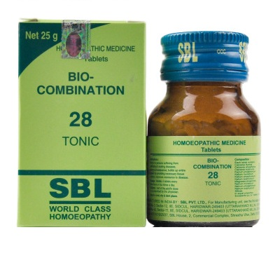 SBL Biocombination 28 (BC28) Tablets - General Tonic for tissue-salt deficiency, debilitating diseases, convalescence