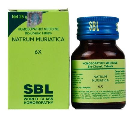SBL Biochemics Tablets Natrum Muriatica for intermittent fever, sun stroke