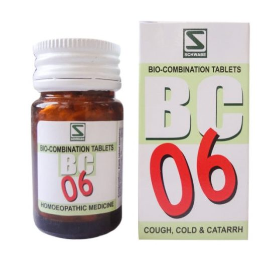 Schwabe Biocombination No 6 Tablets for Cough, Cold and Catarrh