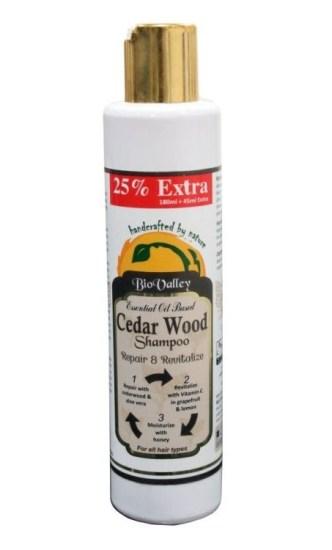 Bio Valley Cedar Wood Shampoo, Aloe barbadensis,cirtus limonum (lemon) essential oil, cedarwood (cedrus atlantica)