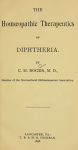 The Homoeopathic Therapeutics Of Diptheria By C M Boger M D Free Book Download