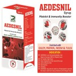 Dr.Raj Aedesnil Syrup Homeopathy Immunity Booster with Giloy, Papaya, Neem and Tulsi