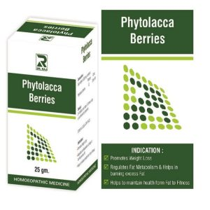 Dr.Raj Phytolacca Berry Tablets, Homeopathy weight loss formula