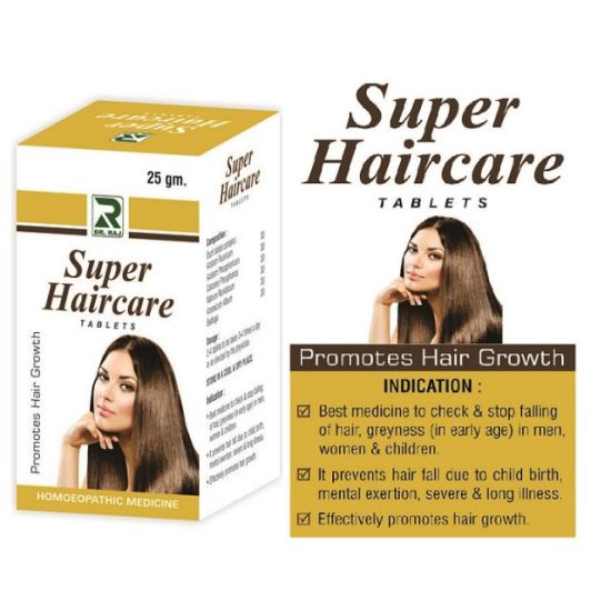 Dr.Raj Super Haircare Tablets, Homeopathy Hair Growth formula - Pack of 3 Offer
