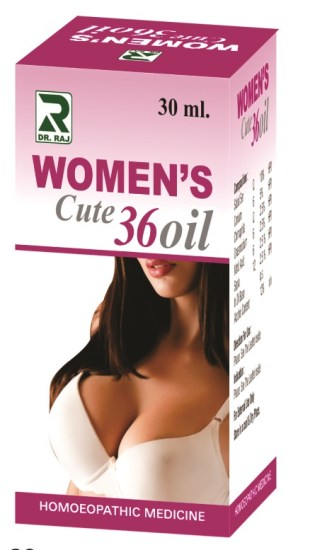 Homeopathy breast size increase, bust enlargement & firming medicinal oil. Cute 36 Oil for fuller breasts