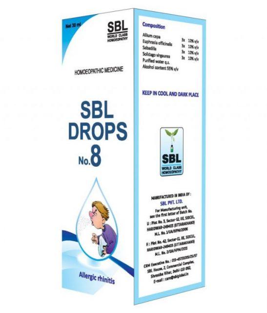 Buy Sbl Drop No 8 Homeopathy Medicine For Allergic