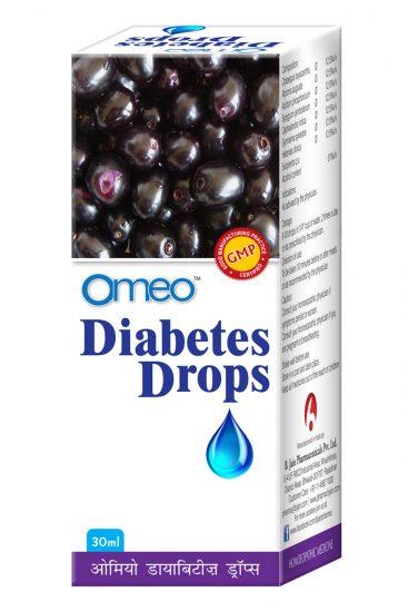 Omeo Diabetes Drops with Syzgium Jamb, Crataegus Qxy, Abroma Aug