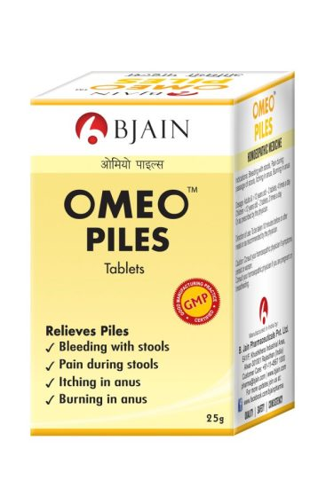 Omeo Piles Tablets - homeopathy medicine for hemorrhoids