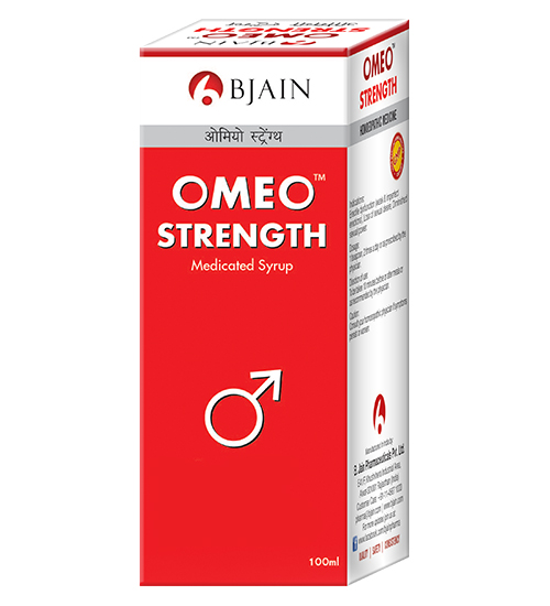 Omeo strength medicated syrup for erectile dysfunction, loss of libido