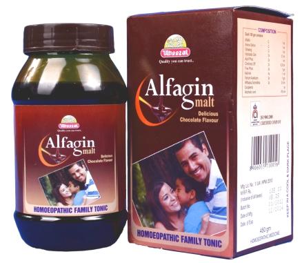 Wheezal Alfagin Malt. Homeopathic Health Supplement
