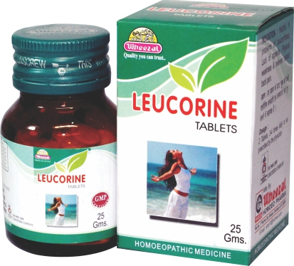 Wheezal Leucorine for white vaginal discharge (leucorrhoea). Homeopathic medicine