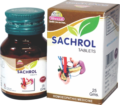 Wheezal Sachrol Tablets. Homeopathic medicine for Diabetes Mellitus