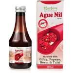 R S Bhargava Ague Nil Syrup Homeopathic medicine for Dengue with Giloy, Papaya, Neem and Tulsi