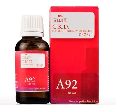 Allen A92 Chronic Kidney Diseases Drops for Gradual Loss of Kidney Functions