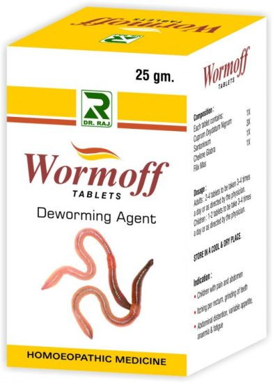 Dr.Raj Wormoff Tablets - Homeopathy Deworming Agent
