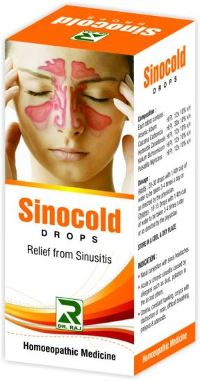Dr. Raj Sinocold Drops Cures Sinusitis
