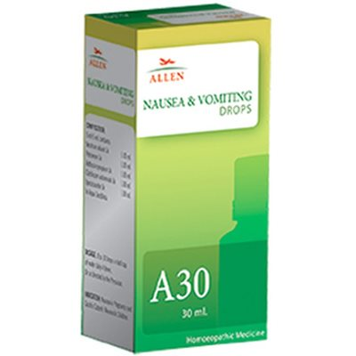 Allen A30 Homeopathy Nausea and Vomiting Drops, 30ml