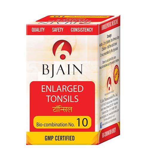 Bjain Biocombination No 10 Tablets for Enlarged Tonsils