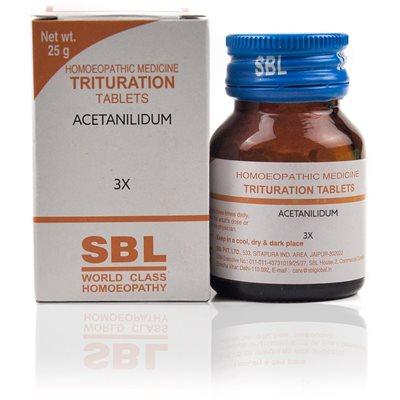 Acetanilidum 3X Tablet lowers temperature.