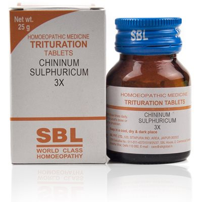 Chininum Sulphuricum 3X Tablet Red rash over whole body with severe stinging pains