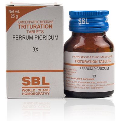 Ferrum Picricum (3X - 6X) Tablet To complete the failed action of other medicines, to complete the cure.