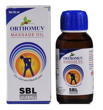 SBL Orthomuv Massage Oil,medicine for Joint, Muscle Pain with Arnica Montana, Cantharis, Gaultheria