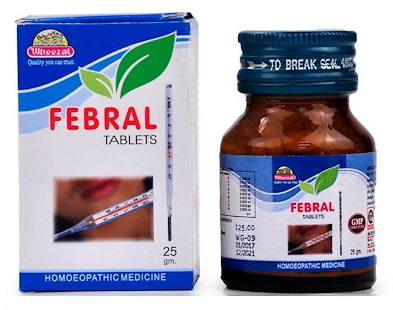 Wheezal Febral Tablets, Homeopathic Medicine for all types of Fever