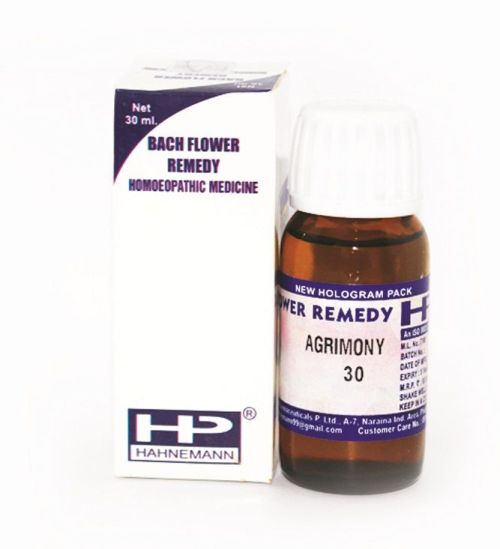 Bach Flower Remedy Agrimony for Addiction, unhappiness, anxiety, insomnia.