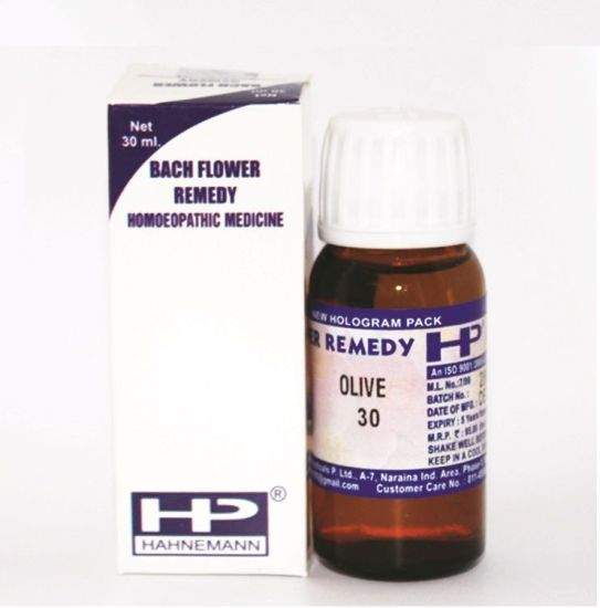 Buy Bach Flower Remedy Olive for Lack of energy, fatigue, convalescence.