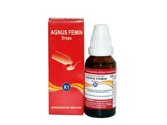 Homeopathy medicine for Menstrual Disorders, Amenorrhoea, Dysmenorrhoea, Agnus Femin K1 Drops