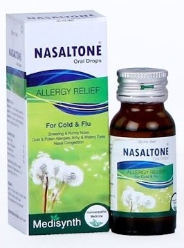Medisynth Nasaltone Oral Drops - Allergy Relief for Cold and Flu