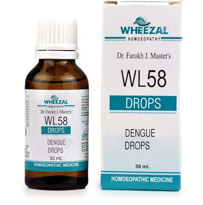 Wheezal WL58 Dengue Drops - Relieves Dengue Related Symptoms