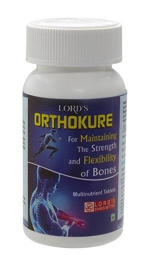 Lords Orthokure Tablet for bone health, strong bone vitamins, increases bone density, improves cartilage health