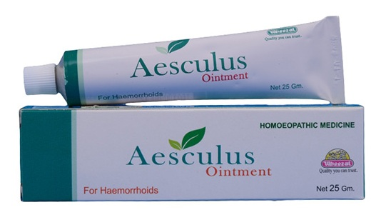 Wheezal Aesculus Ointment for Haemorrhoids, varicose vein treatment homeopathy