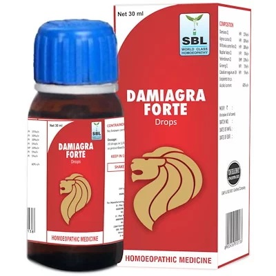SBL Damiagra Forte Drops for erectile dysfunction, Premature Ejaculation, libido booster, sexual weakness